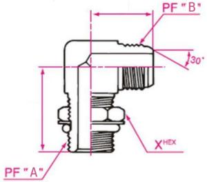 45°エルボホース用アダプター