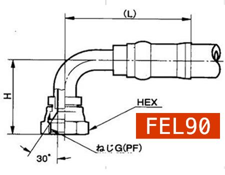 横浜高圧油圧ホース用カプラーFEL90