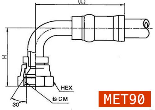 横浜高圧油圧ホース用カプラーMET90