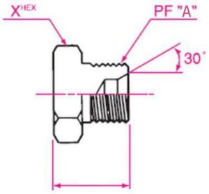 メクラ ガスネジ用盲プラグ 取り付け金具(1005)
