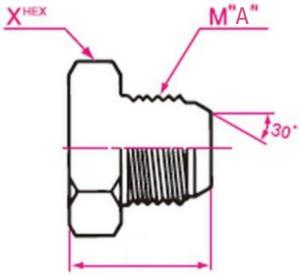 メクラ Mネジ(メートルネジ)用盲プラグ 取り付け金具(METST)